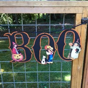Old Fashioned Halloween Hanging BOO Sign